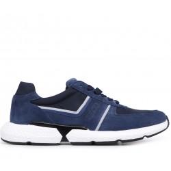 Синие замшевые демисезонные кроссовки