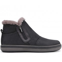 Нубуковые зимние ботинки