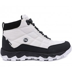 Белые текстильные демисезонные ботинки