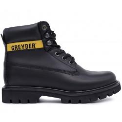 Чорні шкіряні демісезонні черевики