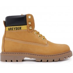 Желтые нубуковые демисезонные ботинки