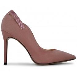 Розовые замшевые демисезонные туфли