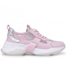 Розовые  летние кроссовки