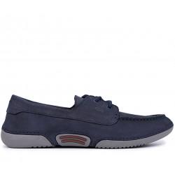 Сині нубукові демісезонні туфлі