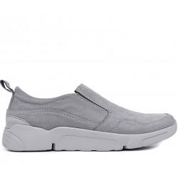 Сірі нубукові демісезонні туфлі