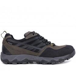 Хаки нубуковые демисезонные кроссовки