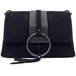 Черная  средняя женская сумка