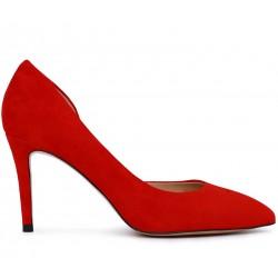 Красные замшевые демисезонные туфли