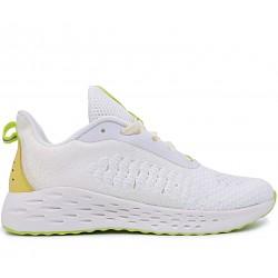 Білі текстильні літні кросівки